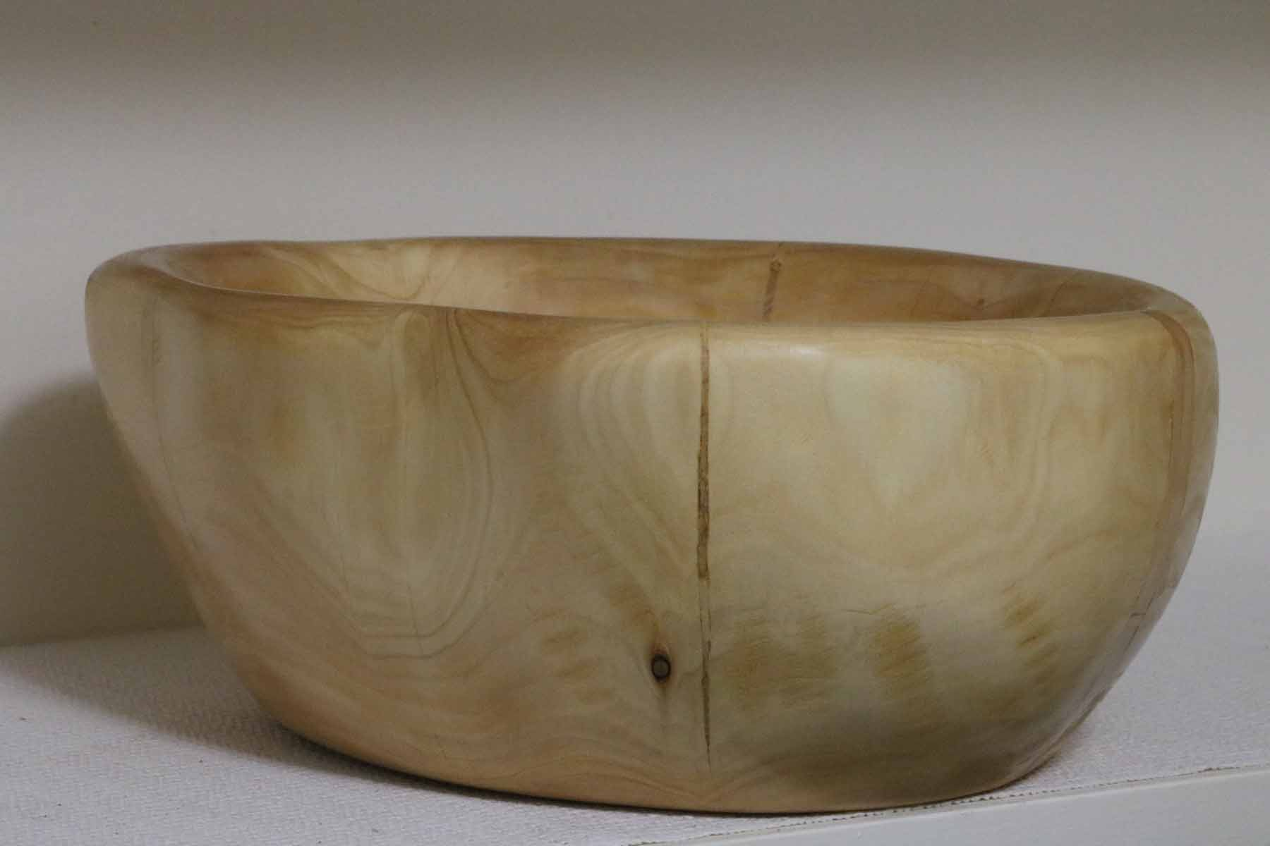 rustic handmade wood bowl